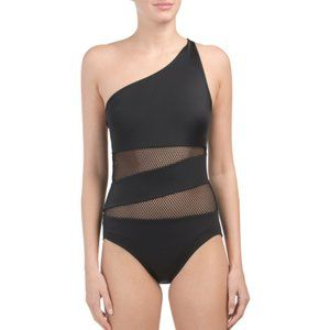 Other - Black One Shoulder Swimsuit